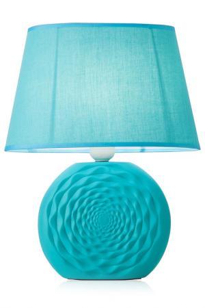 Настольная лампа AZTECA Brandani. Цвет: голубой