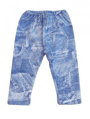 Штанишки (футер под джинс) Дашенька. Цвет: синий