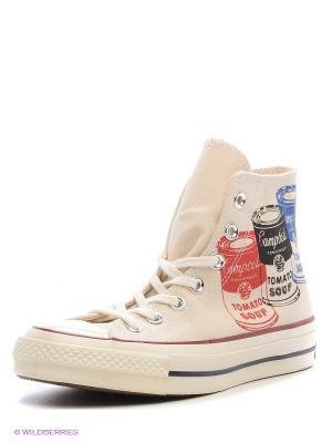 Кеды Converse. Цвет: молочный