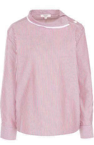 Хлопковая блуза в полоску Atlantique Ascoli. Цвет: красный