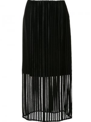 Mid-waisted sheer skirt Sally Lapointe. Цвет: чёрный