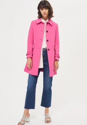 Пальто Topshop. Цвет: розовый
