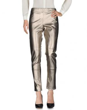 Повседневные брюки PIERRE MANTOUX. Цвет: платиновый