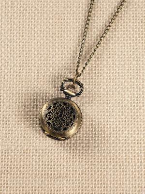 Кулон-часы Причудливый узор Mitya Veselkov. Цвет: бронзовый
