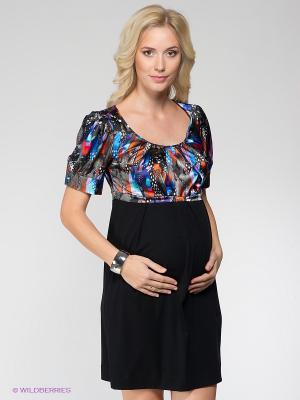 Платье UNIOSTAR. Цвет: черный, синий, серый, голубой