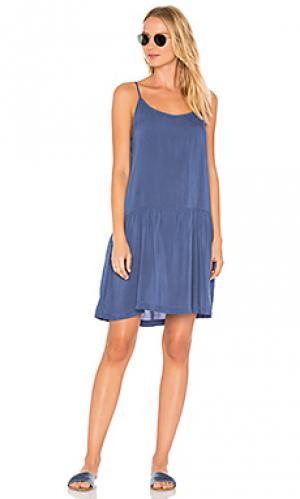 Платье-комбинация babe LACAUSA. Цвет: синий