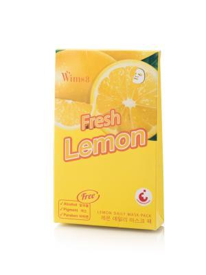 Маска Wims8 Lemon Daily Mask Pack, упаковка 5 шт. Цвет: желтый