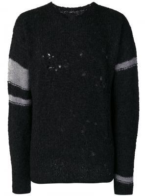 Джемпер с рваными деталями Thom Krom. Цвет: чёрный
