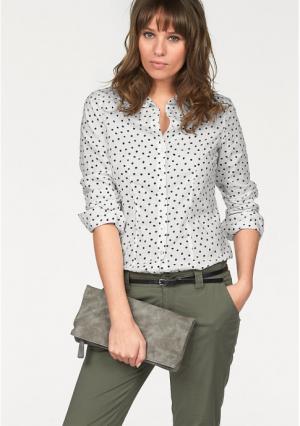 Блузка AJC. Цвет: белый/темно-серый/черный