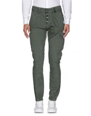 Повседневные брюки X-CAPE. Цвет: зеленый-милитари