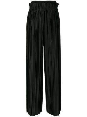 Плиссированные брюки с завышенной талией Maison Margiela. Цвет: чёрный