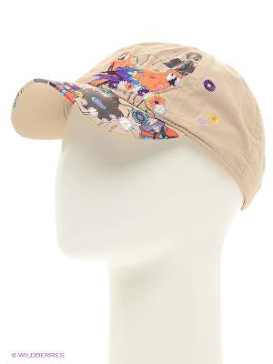 Бейсболка Maxval. Цвет: бежевый, оранжевый, черный, фиолетовый