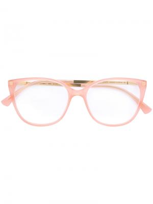 Классические очки в оправе кошачий глаз Mykita. Цвет: розовый и фиолетовый