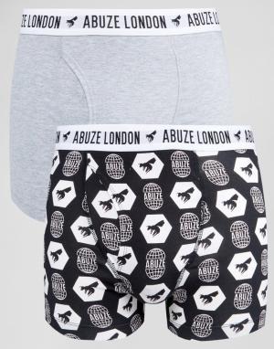 Abuze London Набор из 2 боксеров‑брифов. Цвет: серый