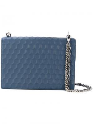 Маленькая текстурная сумка Rodo. Цвет: синий