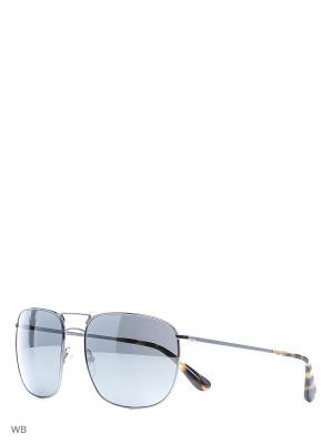 Очки солнцезащитные PRADA. Цвет: серый, серебристый