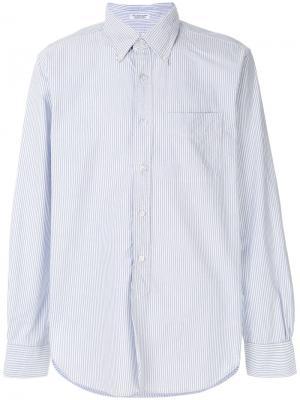 Рубашка в полоску Oxford Engineered Garments. Цвет: синий