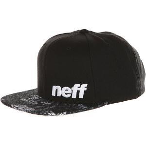Бейсболка с прямым козырьком  Daily Pattern Cap Black/Floral Neff. Цвет: черный,серый