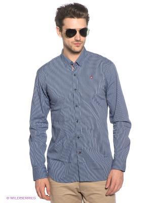 Рубашка Marville. Цвет: синий, белый