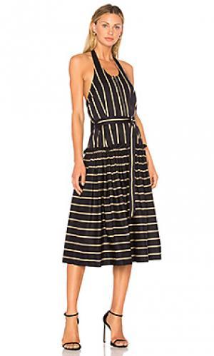 Миди-платье на шлейках frame Lover. Цвет: черный