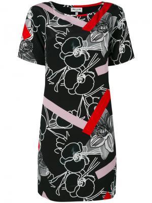 Платье с цветочным и графическим рисунками Paul & Joe. Цвет: чёрный