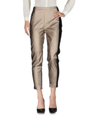 Повседневные брюки MEM.JS. Цвет: платиновый