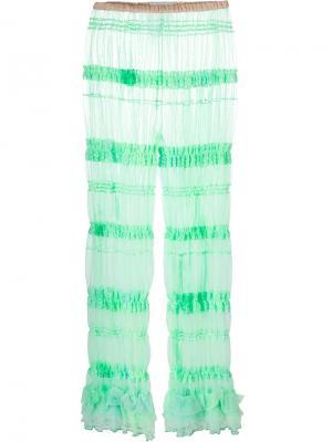 Тюлевые леггинсы свободного кроя Ryan Lo. Цвет: зелёный