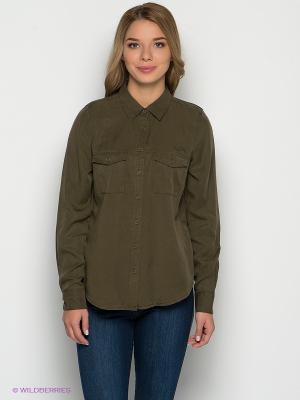 Рубашка New Look. Цвет: хаки