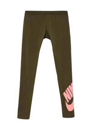 Леггинсы Nike. Цвет: хаки