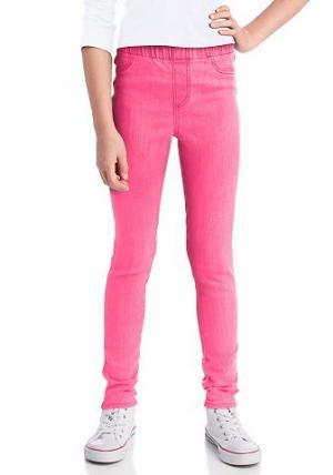 Джеггинсы от CFL. Цвет: розовый