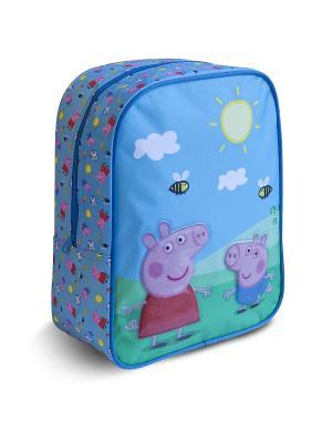 Рюкзачок средний Свинка Пеппа Peppa Pig. Цвет: голубой, розовый, зеленый