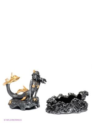Шкатулка Русалка Veronese. Цвет: серый, золотистый