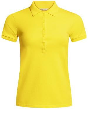 Футболка-поло Oodji. Цвет: желтый