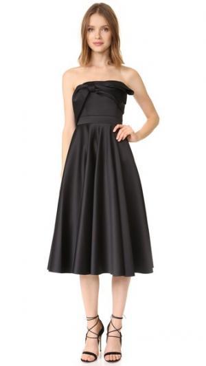 Платье чуть ниже колен без бретелек Cynthia Rowley. Цвет: голубой