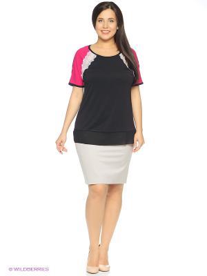 Блузка SVESTA. Цвет: черный, малиновый