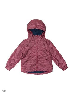 Куртка (Ветровка) Button Blue. Цвет: бордовый