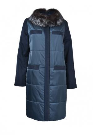 Куртка утепленная Grafinia. Цвет: синий