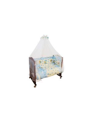 Комплект Мишкин сон 6 предметов Сонный гномик. Цвет: голубой