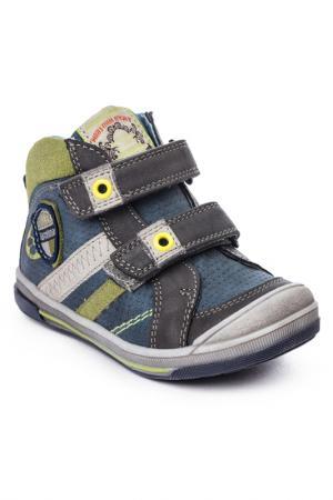 Ботинки PlayToday. Цвет: синий, серый, коричневый, желт