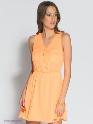 Платье Eunishop. Цвет: оранжевый