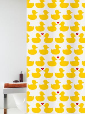 Штора д/ванн 180х200 Bath Duck желт. (шт.) Bacchetta. Цвет: желтый, белый