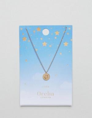 Orelia Ожерелье с подвеской-диском Весы. Цвет: золотой