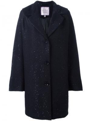 Объемное пальто Luber Talbot Runhof. Цвет: синий
