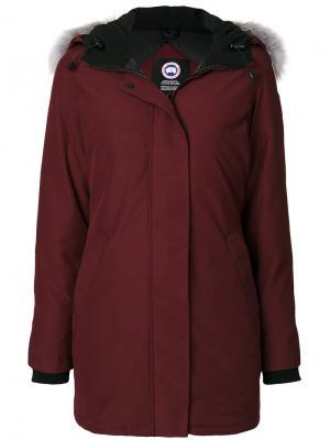 Куртка на молнии Canada Goose. Цвет: красный