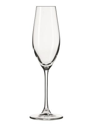 Набор бокалов для шампанского Passion (6 шт.) Krosno. Цвет: прозрачный