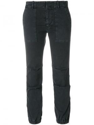 Укороченные брюки Nili Lotan. Цвет: серый