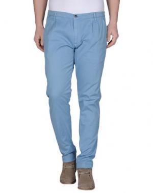 Повседневные брюки ONE SEVEN TWO. Цвет: небесно-голубой