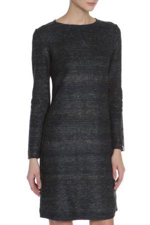 Приталенное платье с круглым вырезом Woolhouse. Цвет: синий