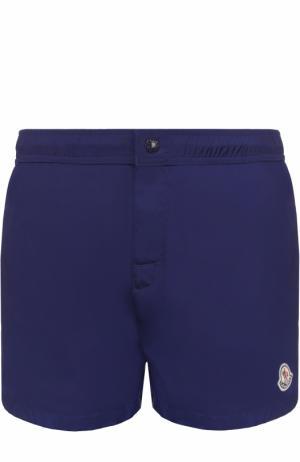Плавки-шорты с контрастной отделкой Moncler. Цвет: темно-синий