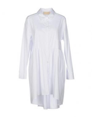 Короткое платье KAOS JEANS. Цвет: белый